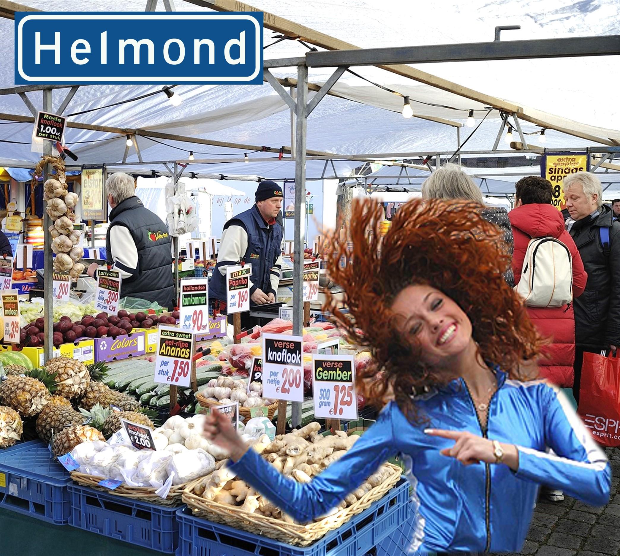 Promoteam op de markt in Helmond